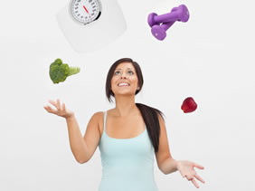 Juggling Weight Loss Challenges